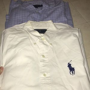 Men's Ralph Lauren & Chaps shirts size large